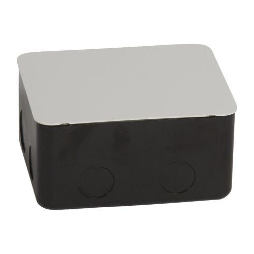 Монтажная коробка для выдвижного розеточного блока - 4 модуля - металл