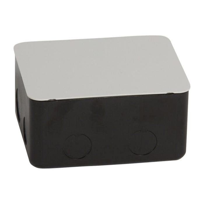 Cutie de montaj, pentru bloc de prize retractabil - 4 module - metal