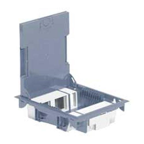 Cutie de podea cu adâncime de 65 mm - incompletă - Module 4x2 + 2x1 modul - sub acoperire