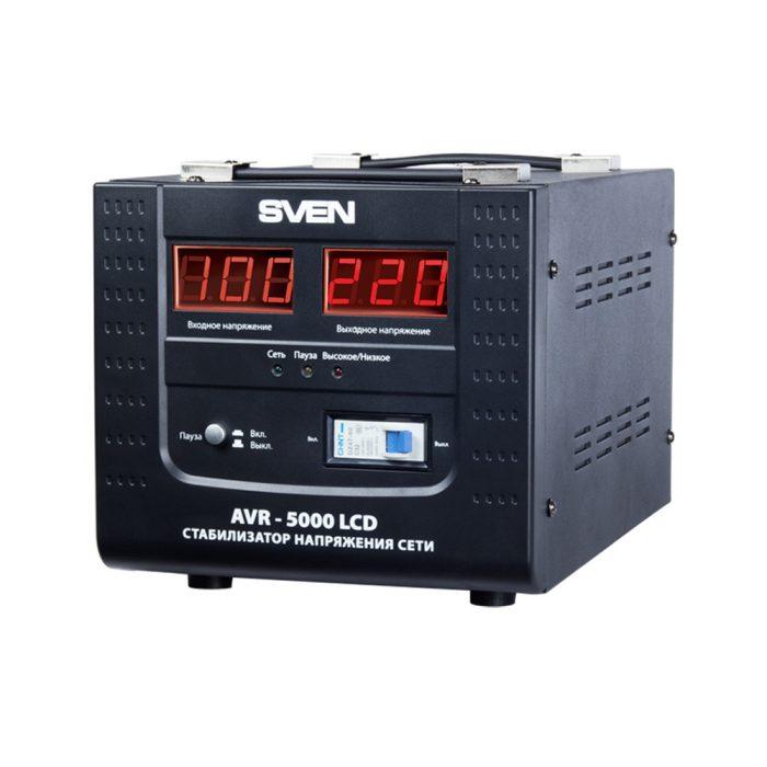 Stabilizator de tensiune SVEN AVR-5000 LCD
