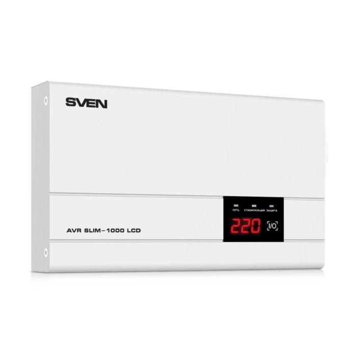 Stabilizator de tensiune SVEN AVR SLIM-1000 LCD