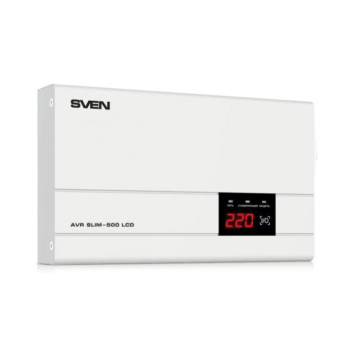 Stabilizator de tensiune SVEN AVR SLIM-500 LCD